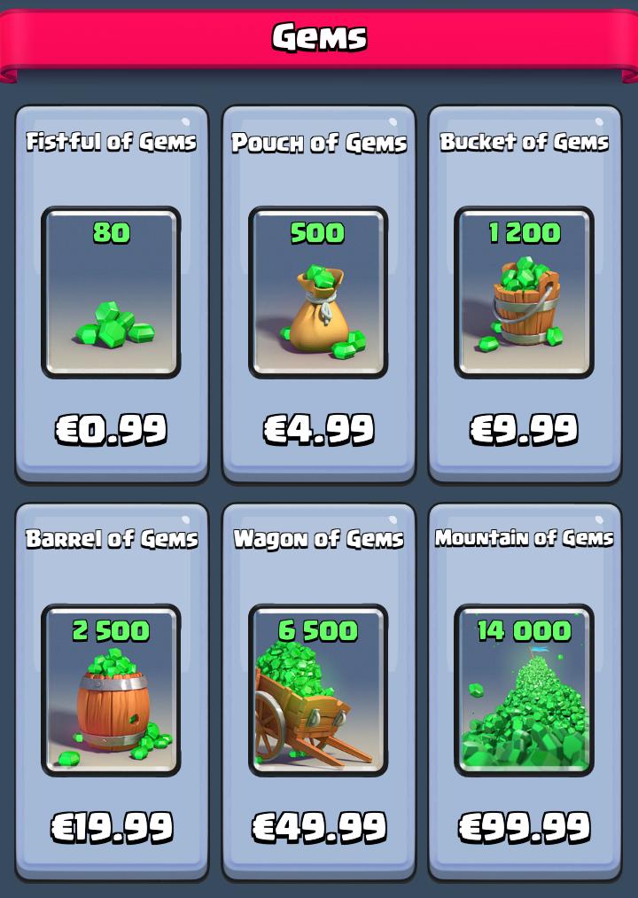 Gems for money