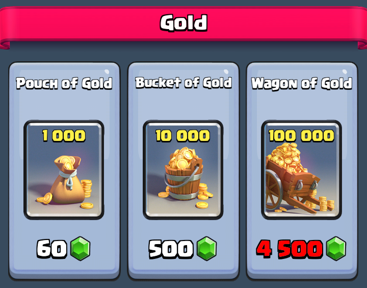 Gold for gems
