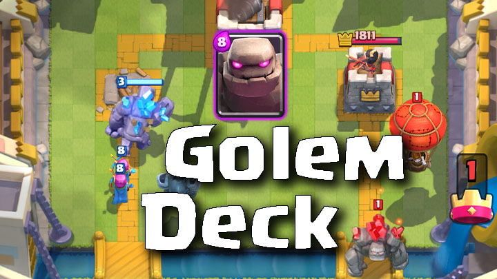 Clash Royale Master Golem Deck
