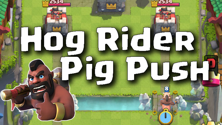 Clash Royale Master Hog Rider Pig Push