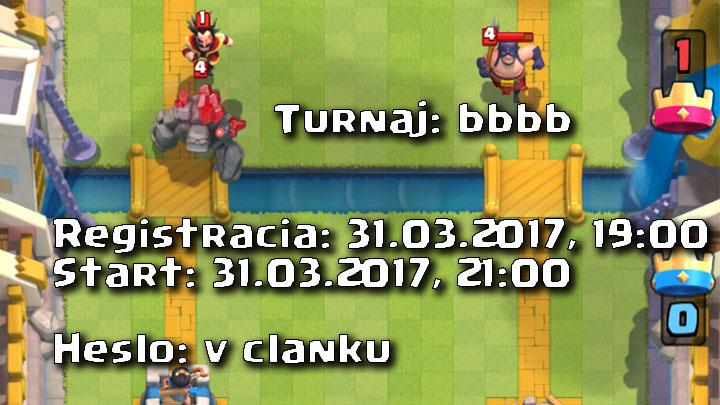 Clash Royale Master Turnaj 31.03.2017